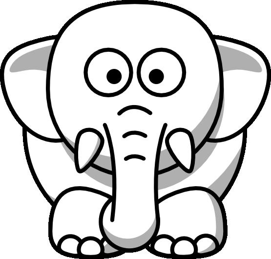 555x530 Elephant Clipart Balck White