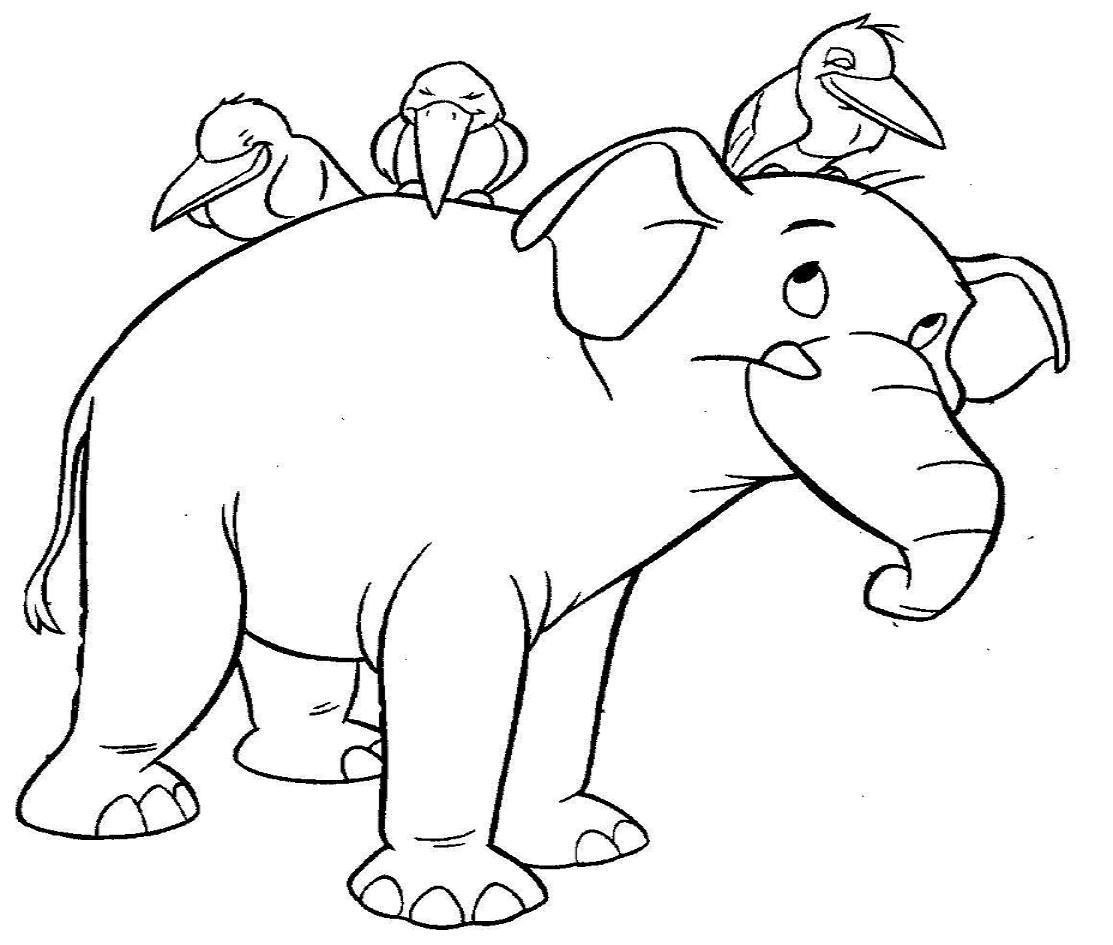 1113x945 Elephants Sketch Elephant Birds Black Drawing White Art Good