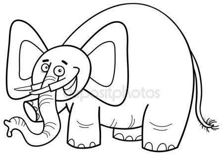 450x316 Illustration Of An Elephant Ganesha, A Hindu God. Black And White