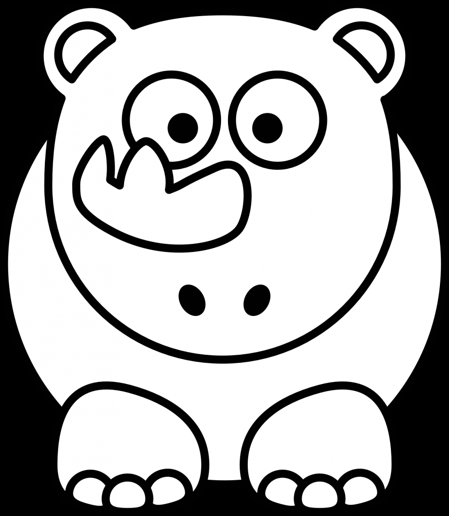 890x1024 Black White Drawings Of Animals Elephant Clipart Black
