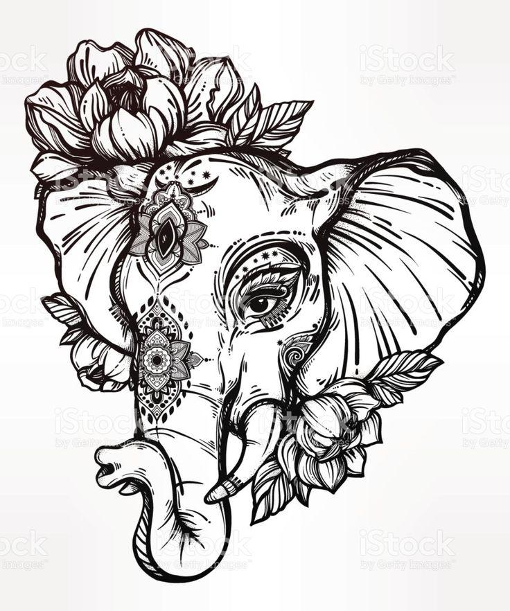 736x882 The Best Tribal Elephant Drawing Ideas On Tribal