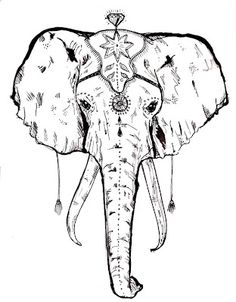 236x302 Sketches Elephant Images Black And White