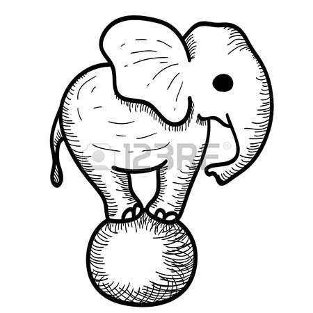 450x450 Drawn Elephant Sketch