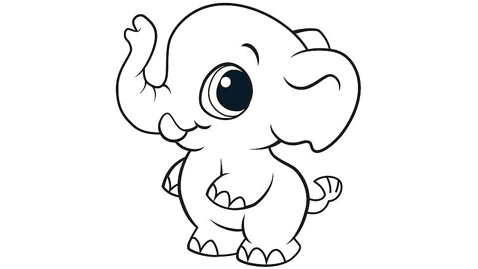 960x540 Cartoon Elephant Coloring Pages Elephant Cartoon Elephant