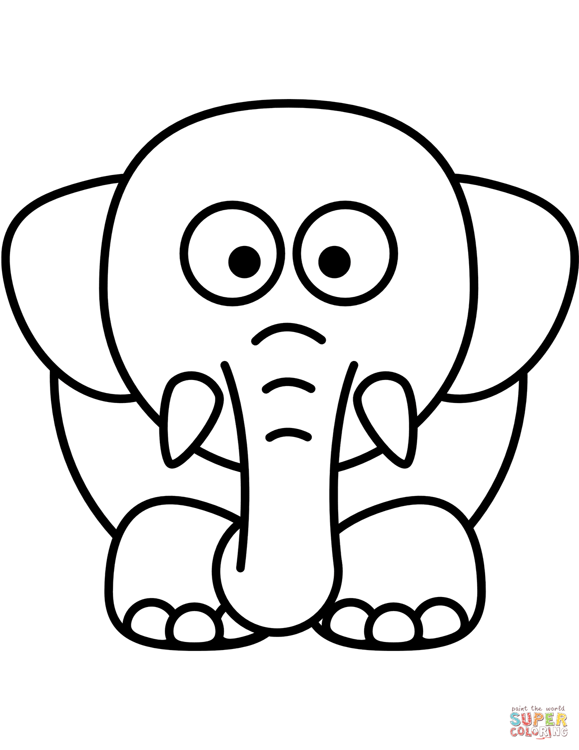 Elephant Cartoon Drawing at GetDrawings.com | Free for personal use ...