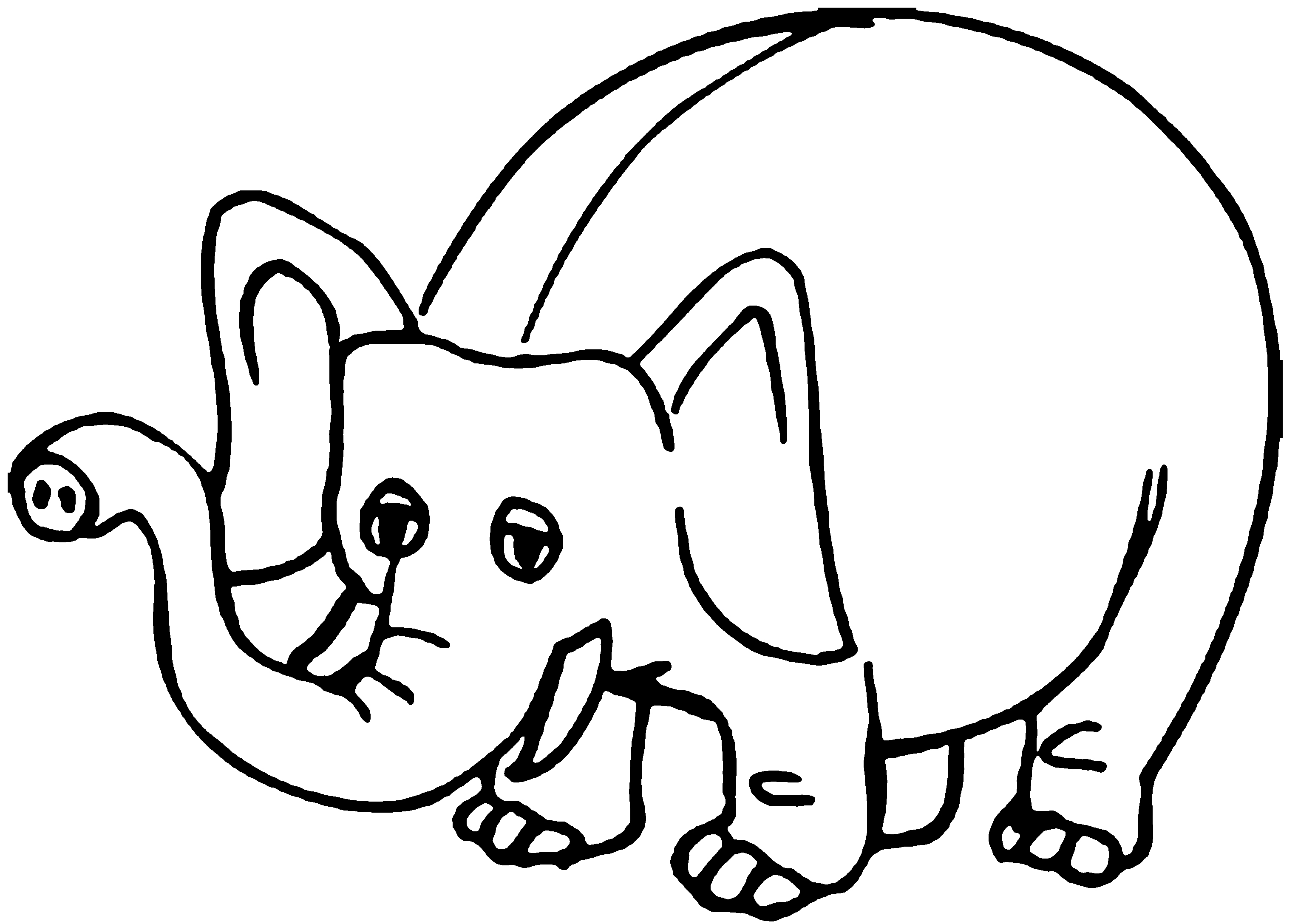 Bargain Cartoon Elephant Pictures To Print Coloring Pages For Kids 7 8893