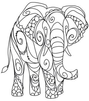 elephant design drawing at getdrawings com free for personal use