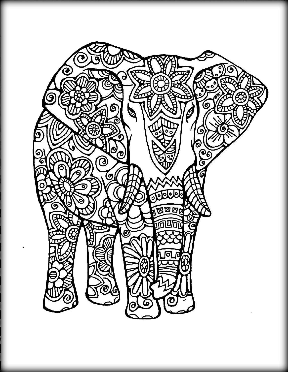 Elephant Design Drawing at GetDrawings.com | Free for personal use ...