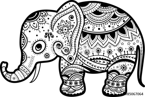 500x336 Decorated Indian Elephant Drawing Images