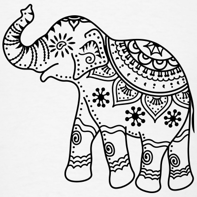 400x400 Drawn asian elephant elephant design