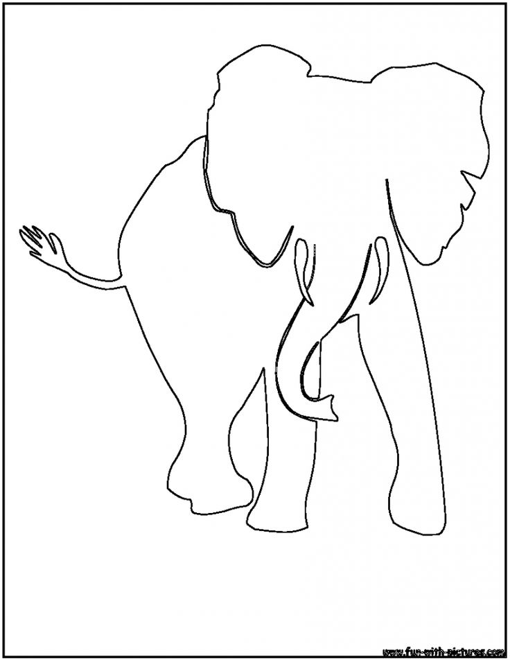 736x952 Drawn Elephant Outline