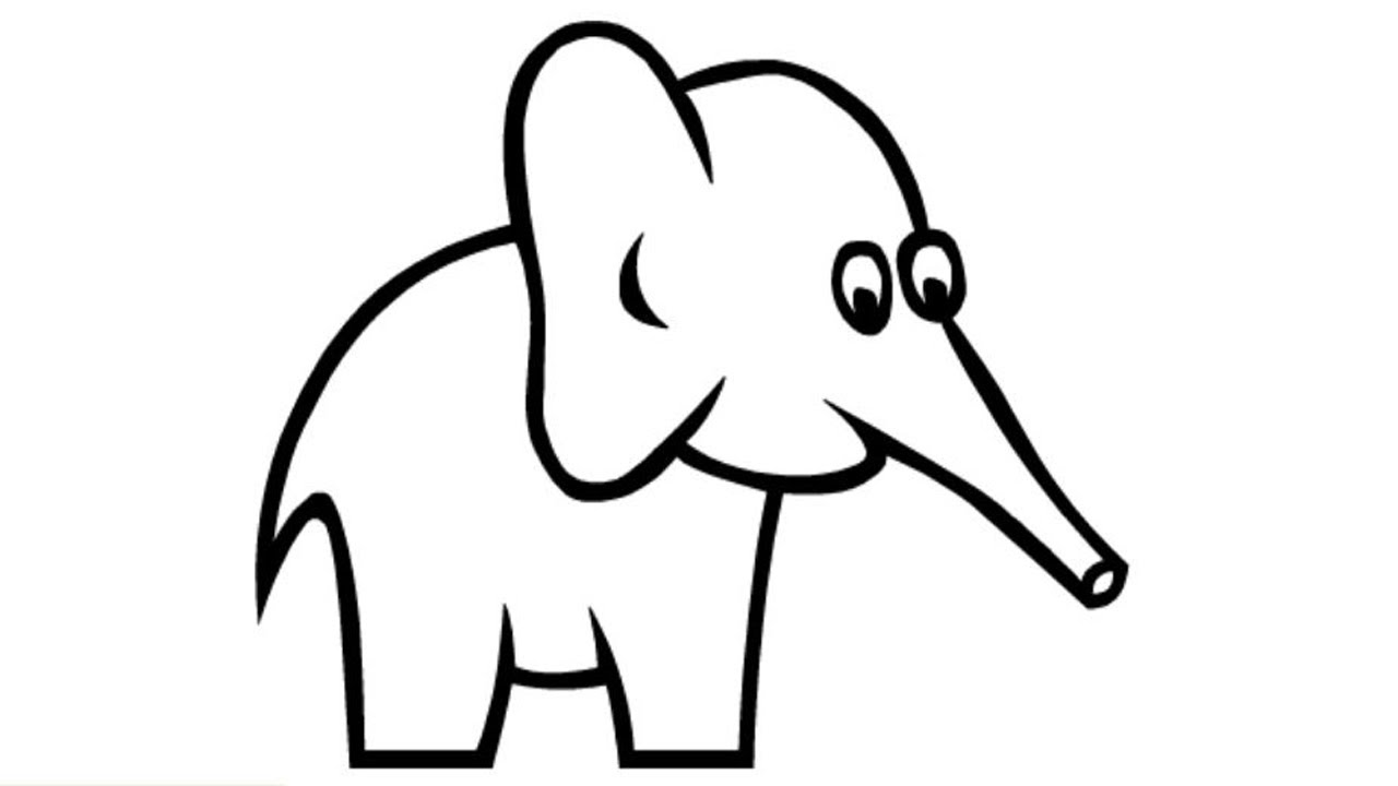 1280x720 Coloring Pages How to Draw a Elephant how to draw a elephant