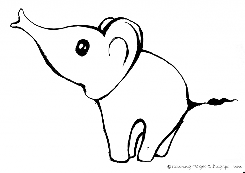 1024x723 Cute Elephant Drawing Coloring Pages D Free Elephant Coloring