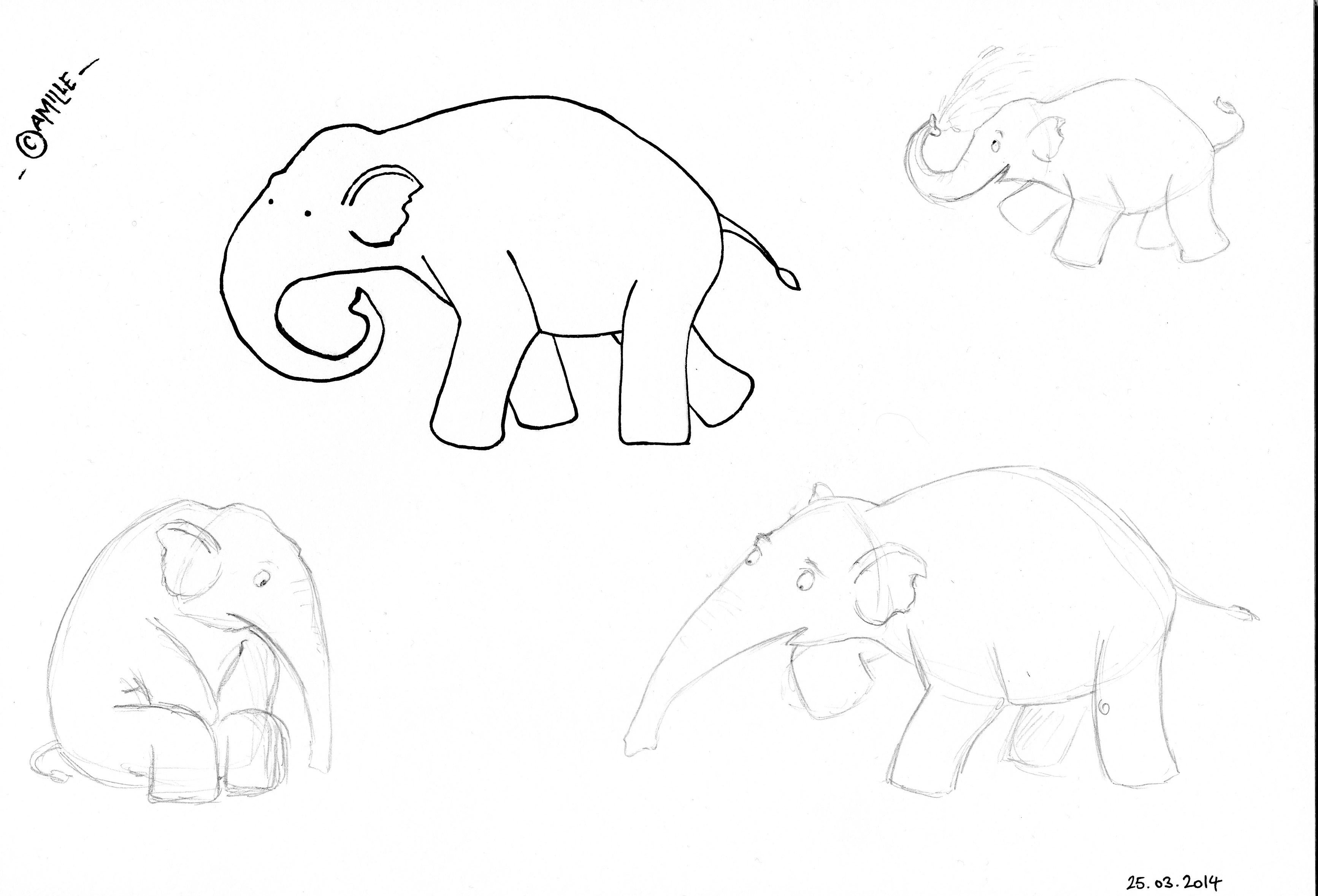 3467x2358 Drawing Elephants Camille's Land