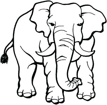 370x360 Elephants Pictures To Color Coloring Cute Elephant Coloring