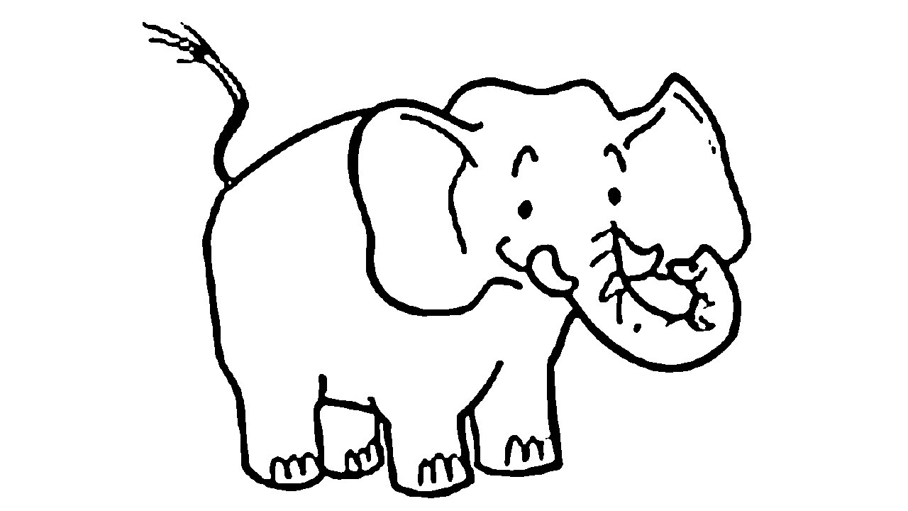 1280x720 How To Draw A Simple Elephant