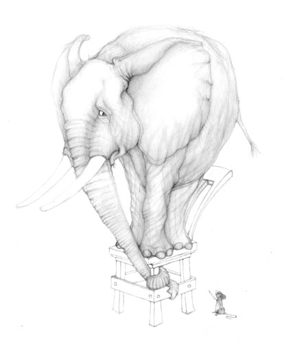 424x504 Angry Mouses, Scared Elephant Nothing Worth Stealing