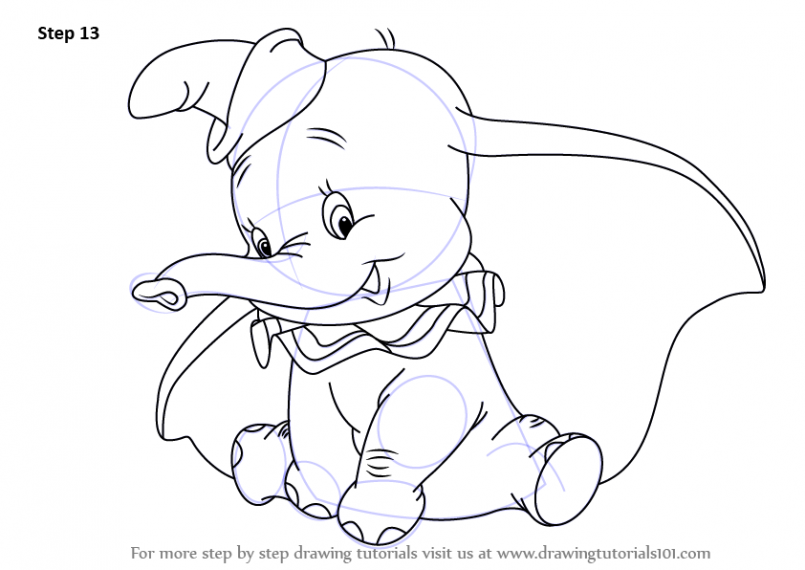 805x570 Coloring How To Drawn Elephant Face Cartoonlso How To Draw