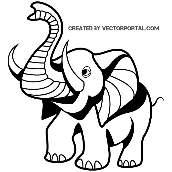 Elephant Drawing Cartoon