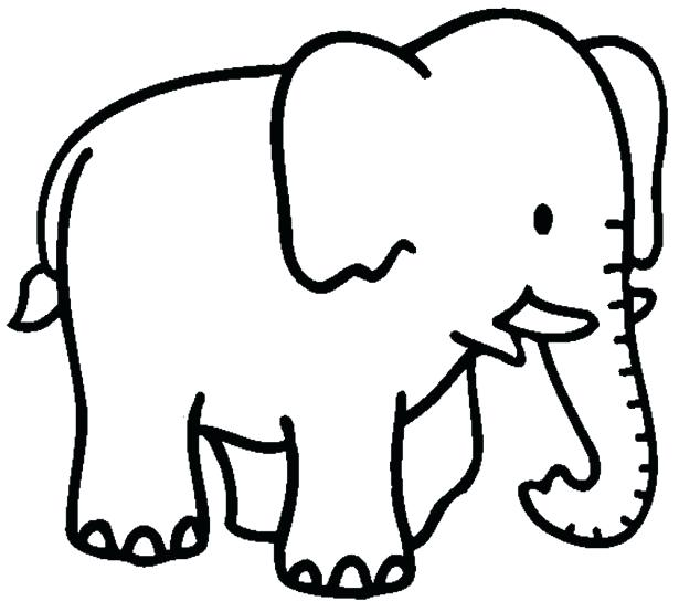 615x554 Cartoon Elephant Coloring Pages Medium Size Of