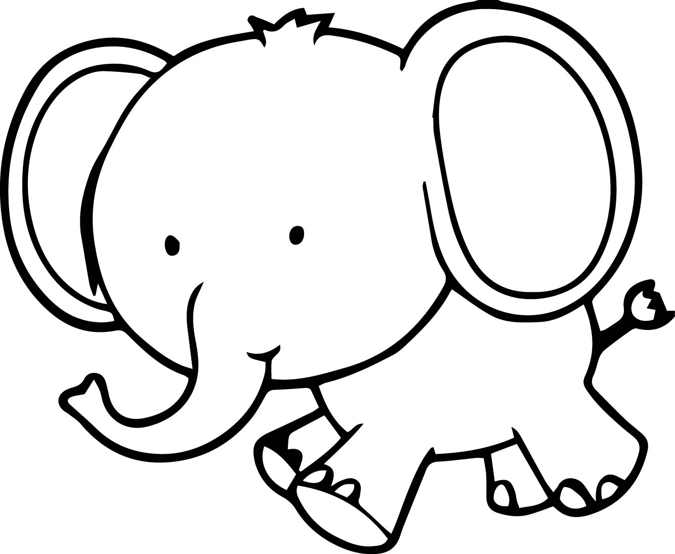 1334x1095 Elegant Elephant Coloring Page With Additional Free Animals