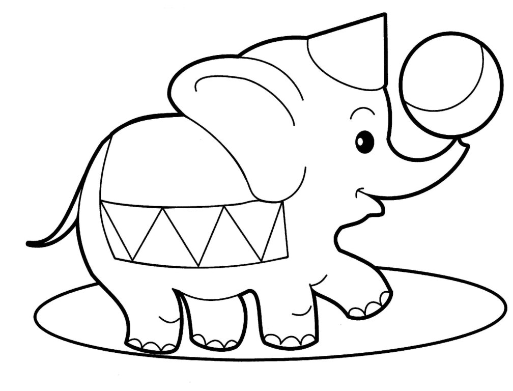 Elephant Drawing Cute