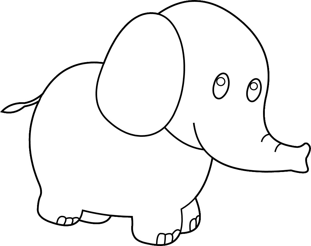 Elephant Drawing Cute at GetDrawings.com | Free for personal use ...