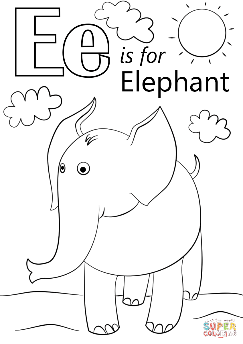 849x1200 Letter E Coloring Pages For Easter Egg Best Printable Kids Bubble