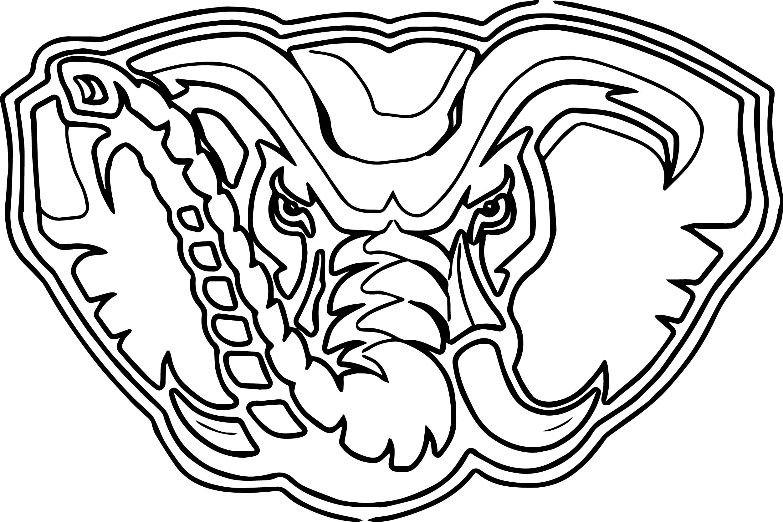 2502x1669 Alabama Elephant Face Outline Coloring Page Wecoloringpage