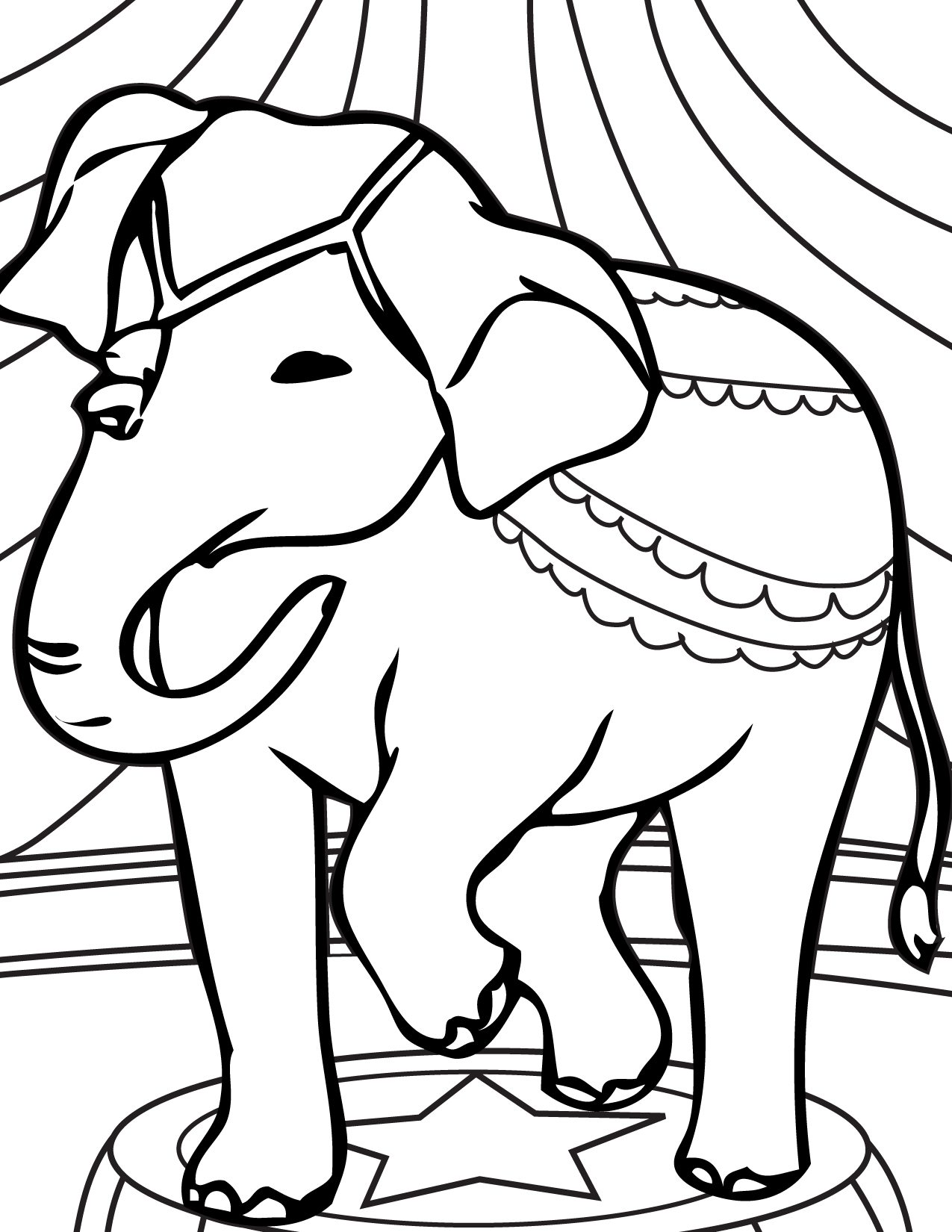 1275x1650 Preschool Coloring Pages Elephant Circus Animal
