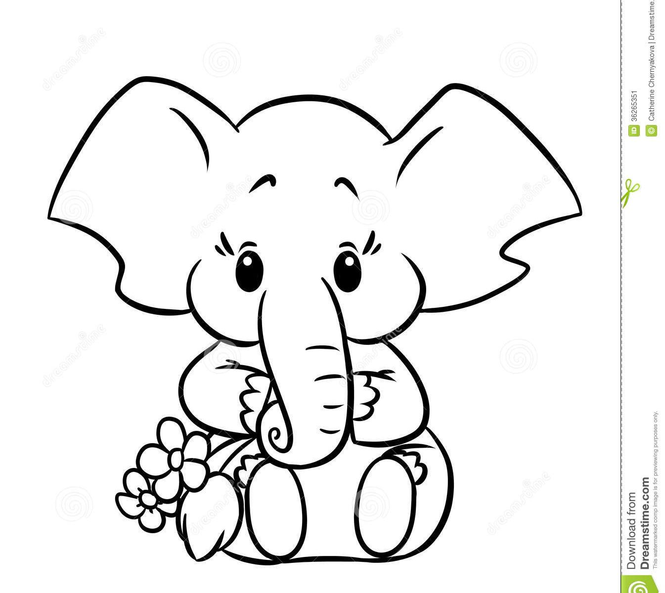 1345x1200 Elephant Coloring Page Image To Print Free Animals Pages For