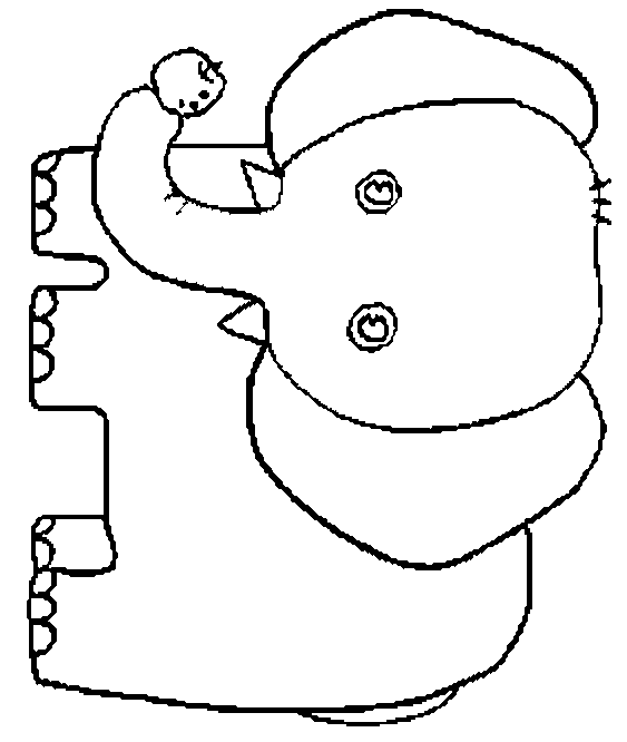 563x666 Best Elephant Outline