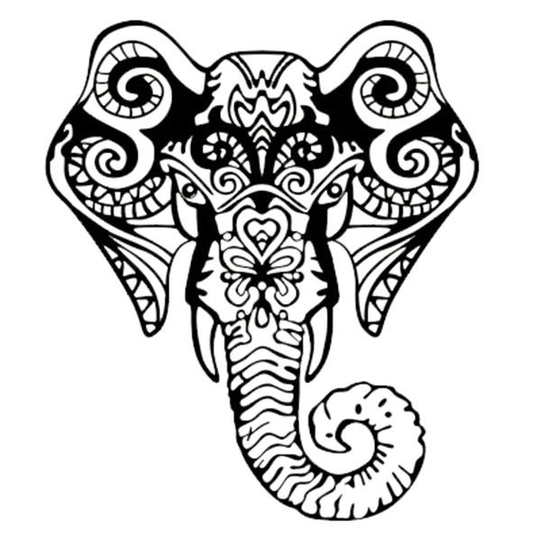 Elephant Drawing Tribal