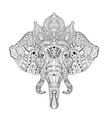Elephant Drawing Trunk Up