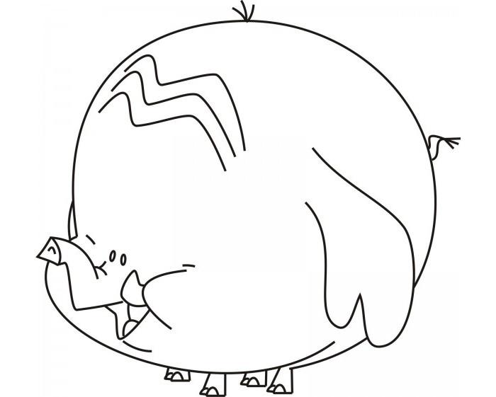 700x561 Elephant Template