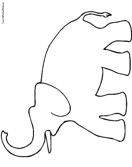 564x710 Elephant Trunk Coloring Sheet