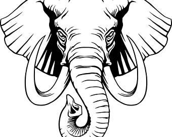 340x270 Elephant Trunk Svg Etsy