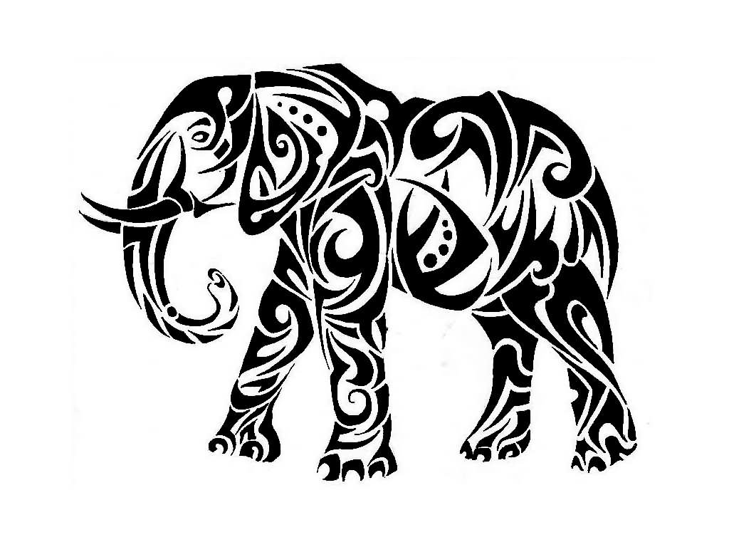 1024x768 Elephant Tribal Tattoo Designs And Pictures