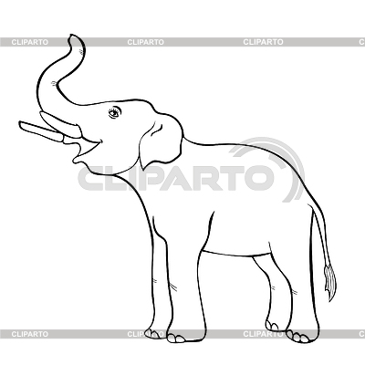 Elephant Drawing Trunk Up at GetDrawings com | Free for
