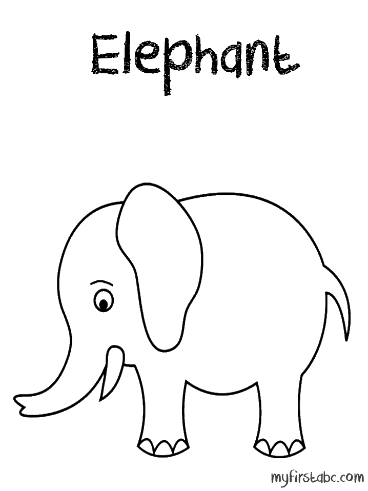 Elephant Drawing Trunk Up at GetDrawings