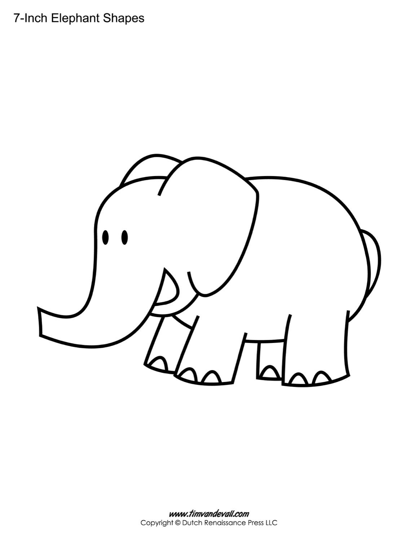 1159x1500 Printable Elephant Templates Elephant Shapes For Kids
