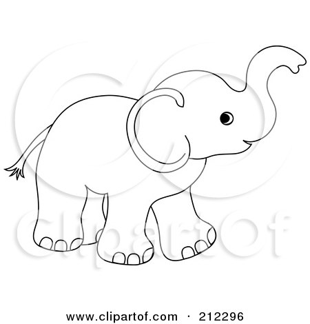 450x470 Royalty Free (Rf) Clipart Illustration Of A Cute Outlined Baby