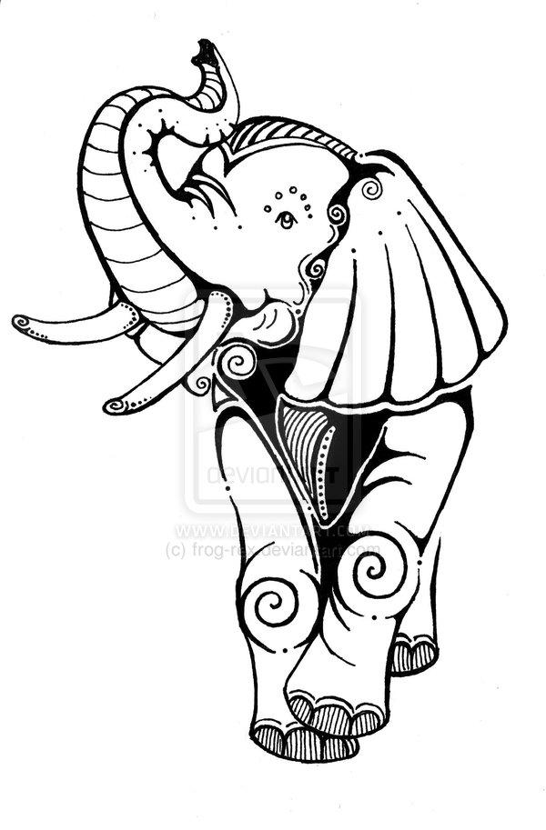 600x913 Elephant Tattoo