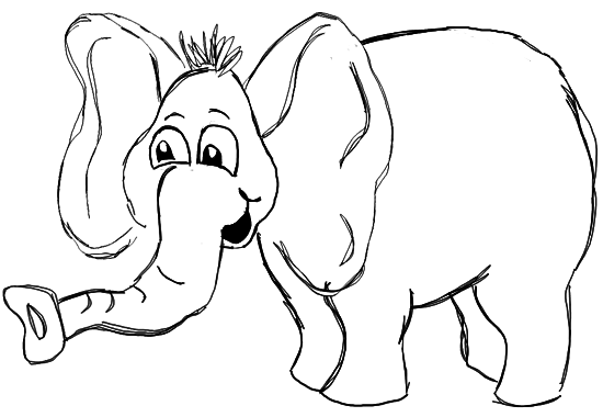 550x380 Step 7 How To Draw Cartoon Elephants African Animals Step By