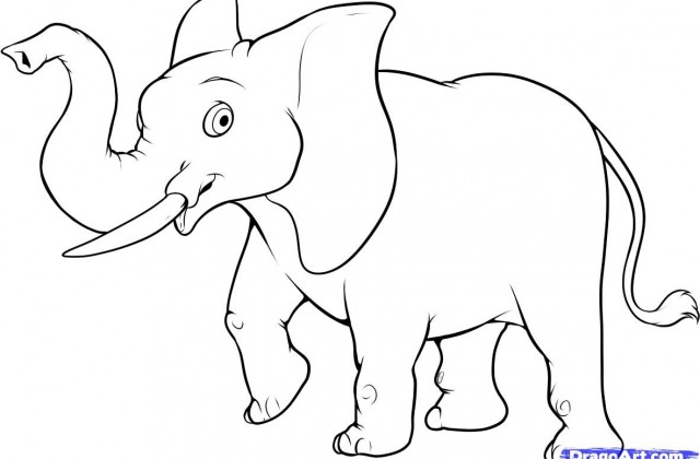 640x420 Tag For Drawings Of Animals Easy How To Draw An Easy Elephant