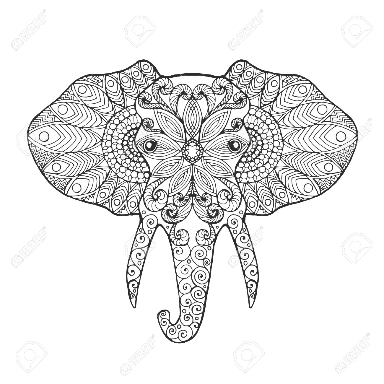 Elephant Ears Drawing At Getdrawings Free Download