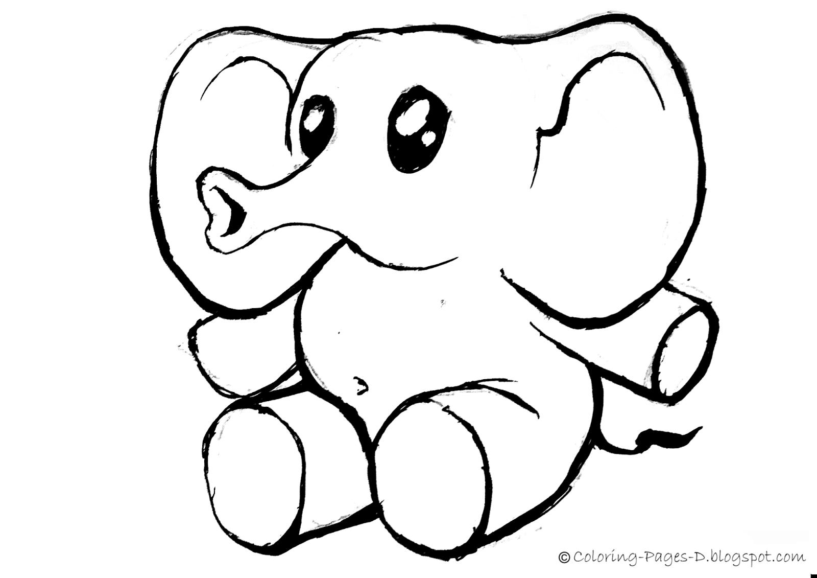 how to draw a simple elephant head