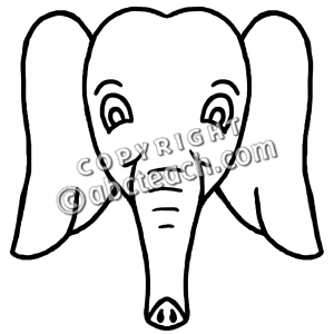 Elephant Face Drawing