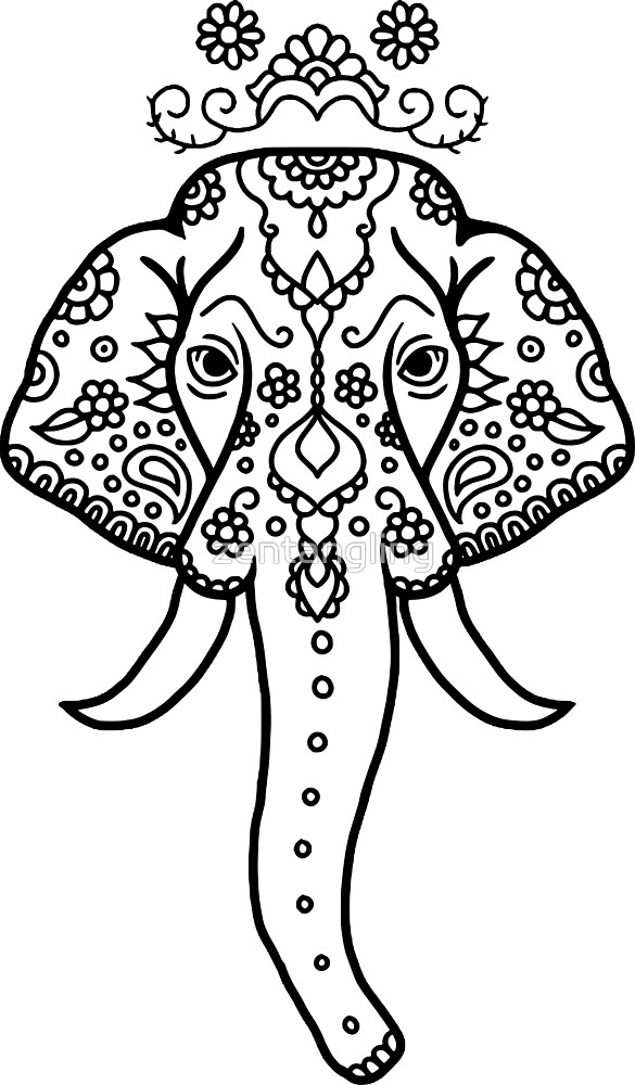 Elephant Head Drawing At Getdrawings Com Free For