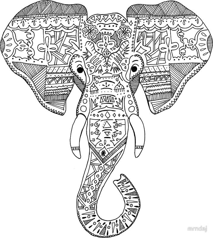 718x800 Elephant Head Stickers By Mrndaj Redbubble